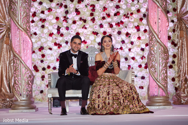 Maharani and Raja wedding reception photo.
