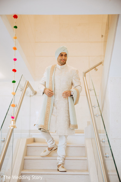 Charming Indian groom ready for his big day.