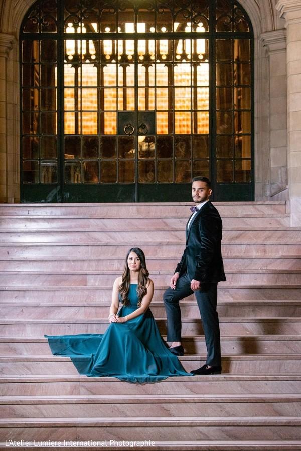 Ravishing couple posing for the session