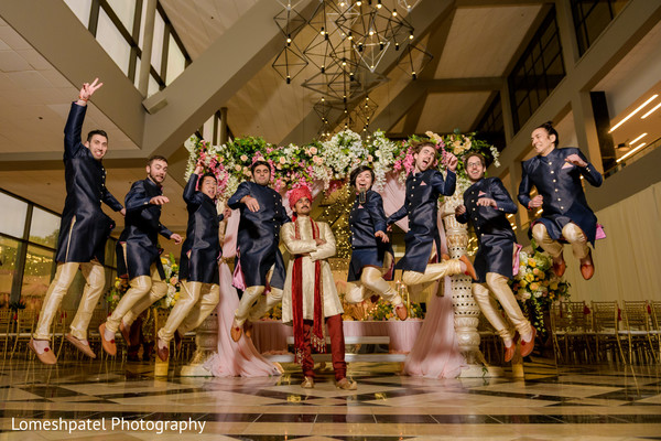 Groom and groomsmen having a great time