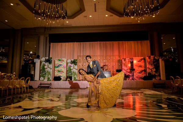 Maharani and Indian groom having a dance