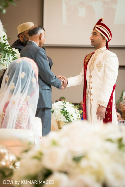 Indian groom and special guest prior to the ceremony