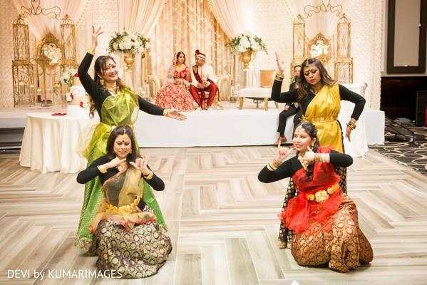Capture of the Indian wedding dancers