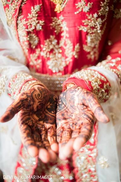 Indian bride's mehndi details