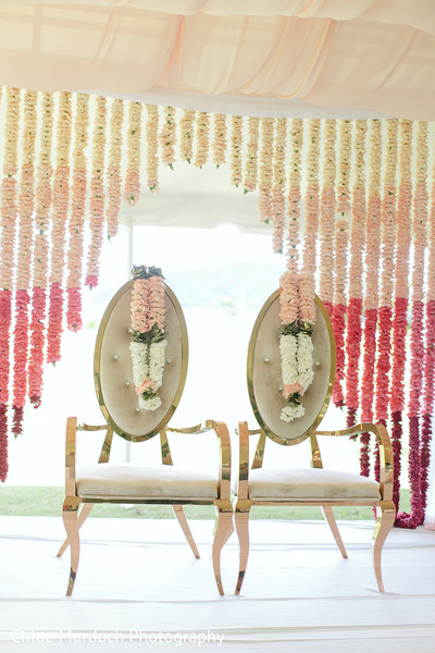 Dreamy Indian wedding mandap flowers decor.