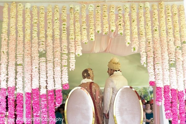 Magnificent Indian wedding mandap flowers decor.