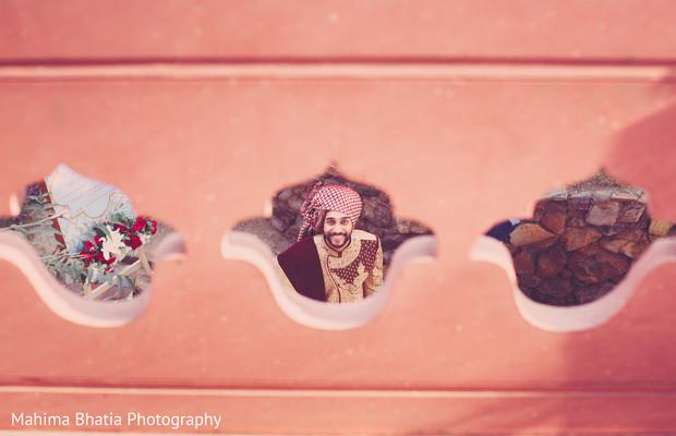 Indian groom at his photo shoot
