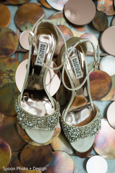 Jeweled Indian bridal shoes.