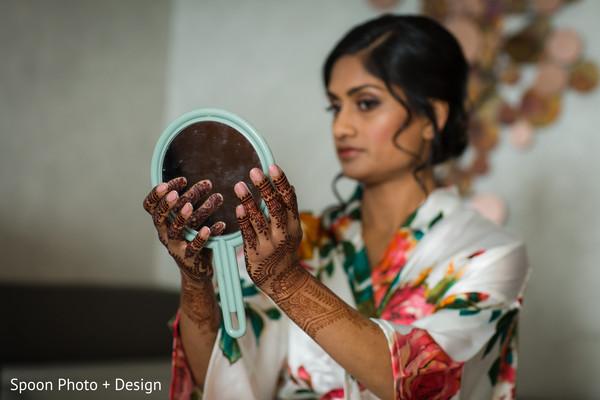 Charming bride getting ready.