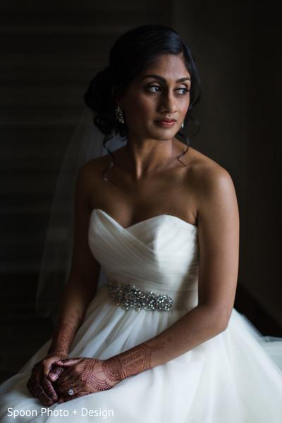 Romantic Indian bride portrait.