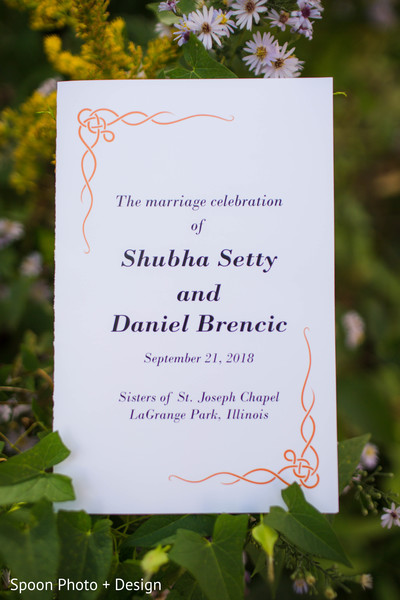 Lovely Indian wedding fusion wedding invite.