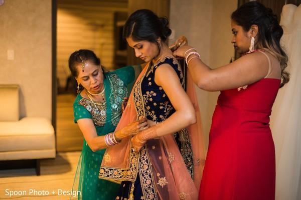 Dazzling Indian bridal lehenga.