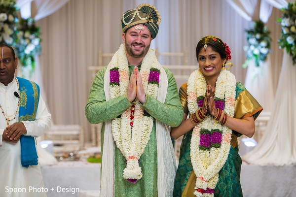 Indian newlyweds.