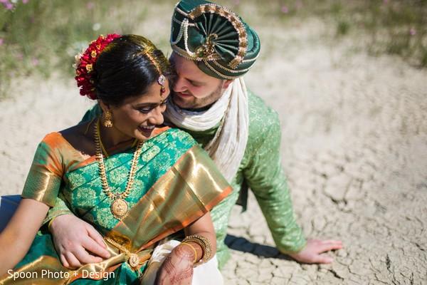 Indian couple fine art portrait.