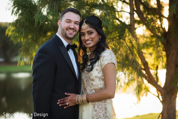 Sweet Indian fusion wedding photography.