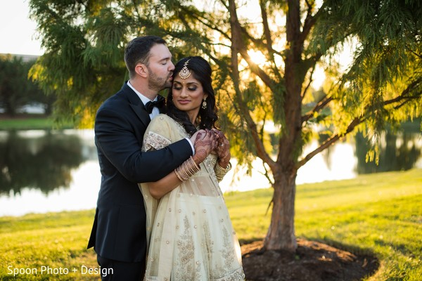Sunset Indian wedding photography.
