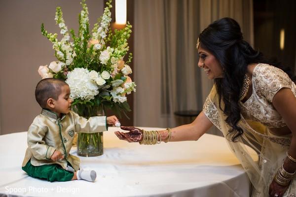 Indian bride cute scene.