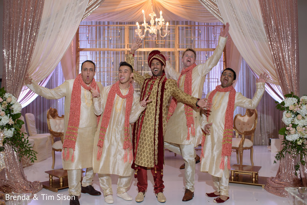 Fun Indian groom and groomsmen capture.