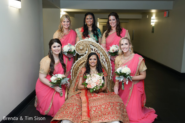 Incredible Indian bride and bridesmaids photo.
