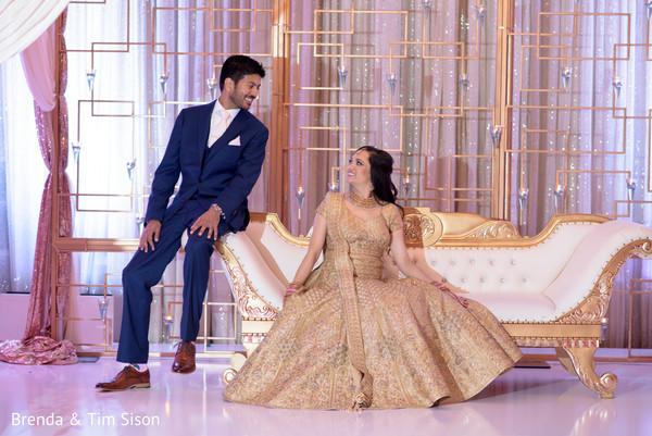 Ravishing indian bride and groom's photography.