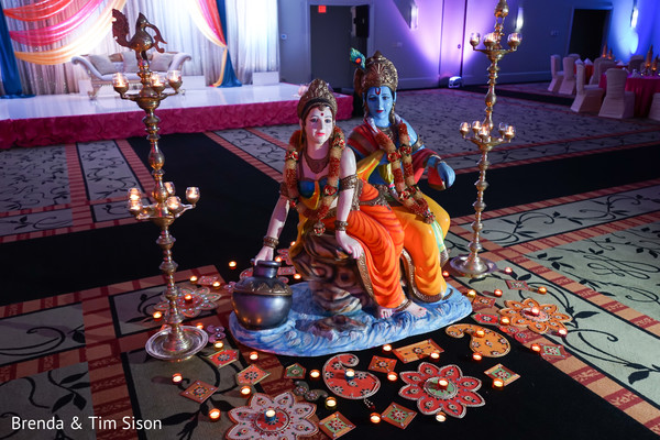 Stunning sangeet God's altar decoration.