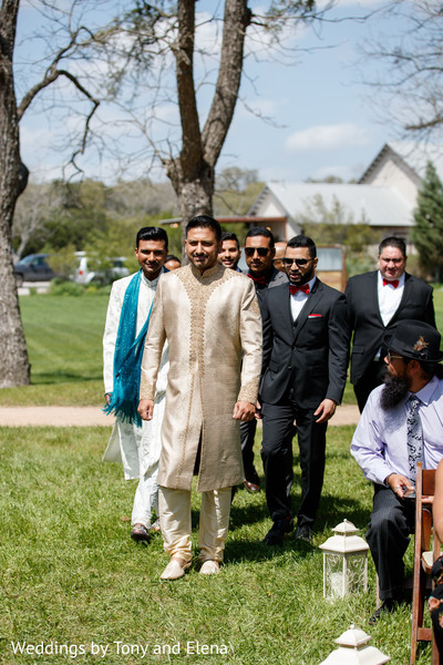 Indian groom entering the ceremony