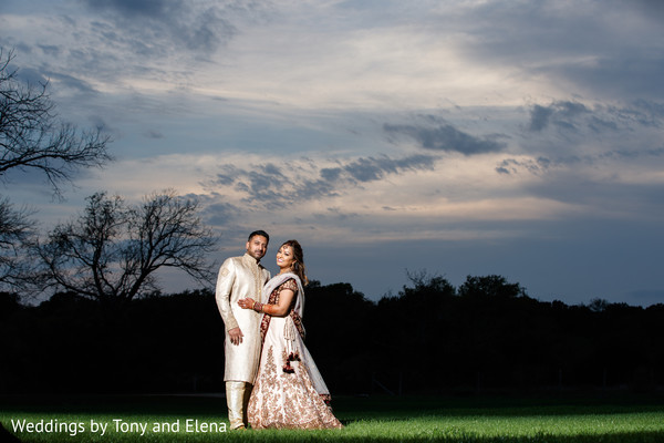Bride and groom during the photo session