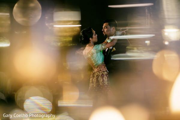 Dreamful Indian couples dance capture.