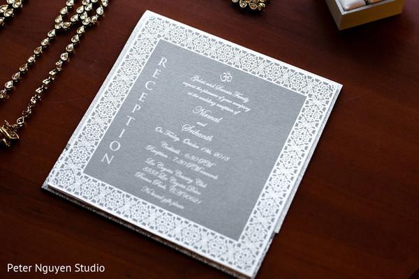 Elegant Indian wedding invite.