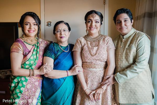 Lovely Indian bride's family portrait.