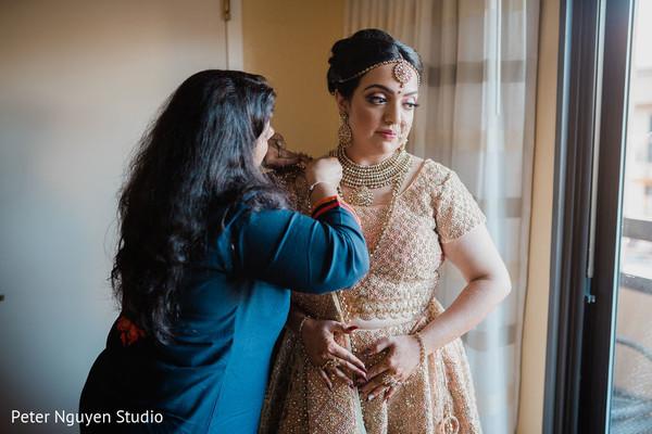 Indian bride trousseau.