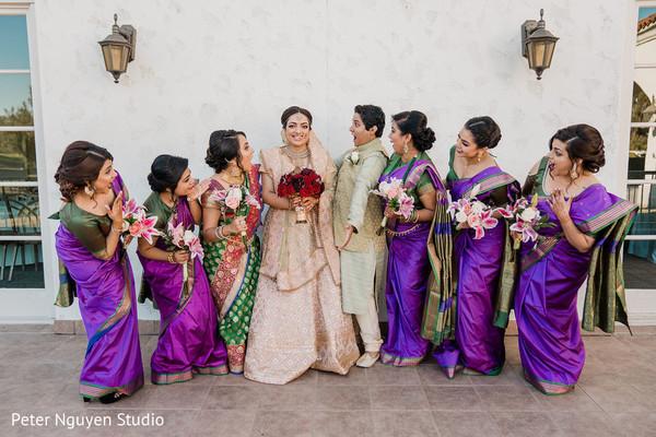 Fun Indian bridal party.