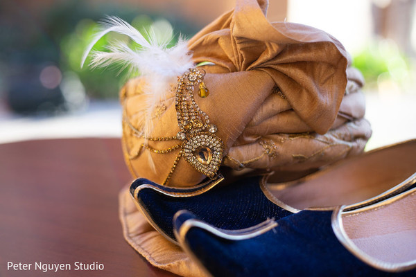 Indian groom's turban