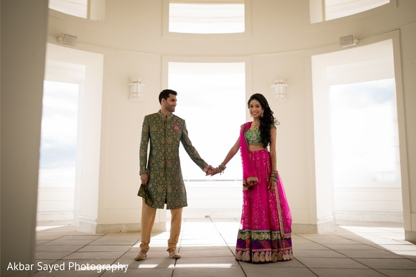 Dazzling indian couple photography.