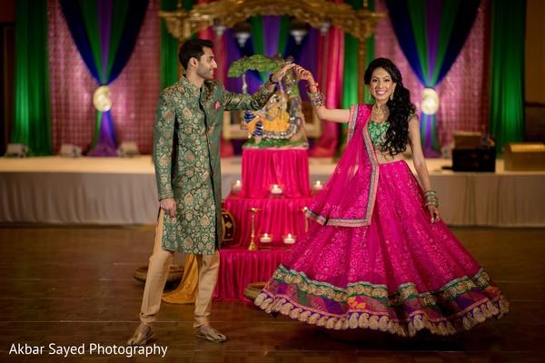Maharani and rajah's sangeet dance.