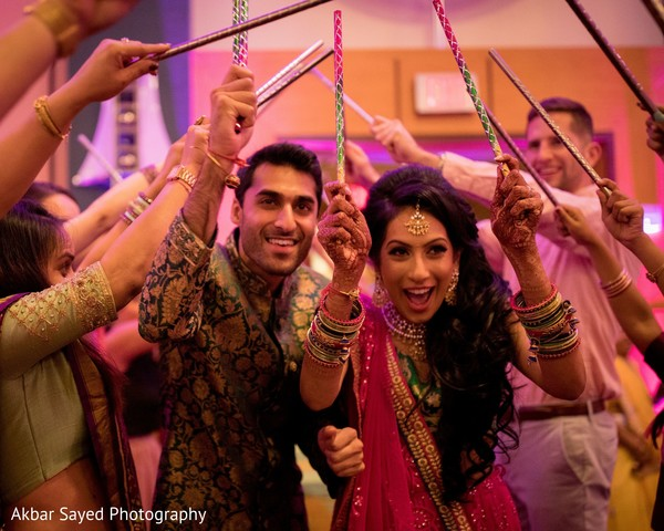 Indian couple at their garba dance.