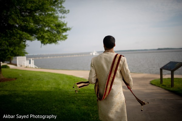 Indian groom on its way to ceremony.