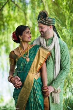 Natural Indian couple portrait.