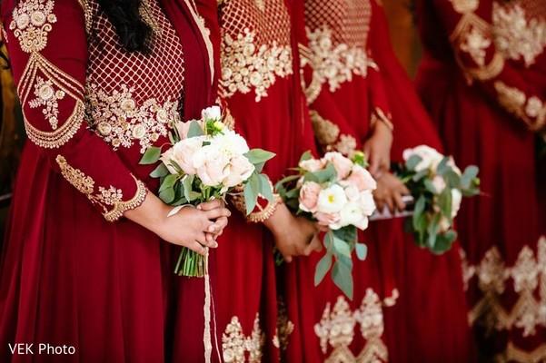 Indian bridesmaid bouquet capture