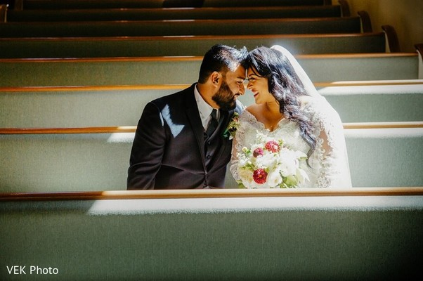 See this romantic bride and groom portrait
