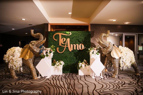 Incredible Indian wedding elephants entrance decor.