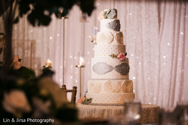 Magnificent Indian wedding cake.