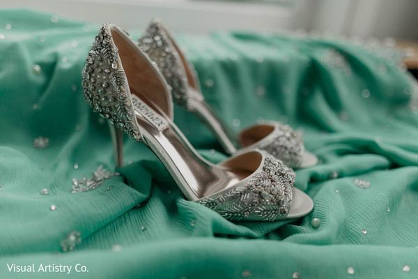 Beautiful shoes used by the bride