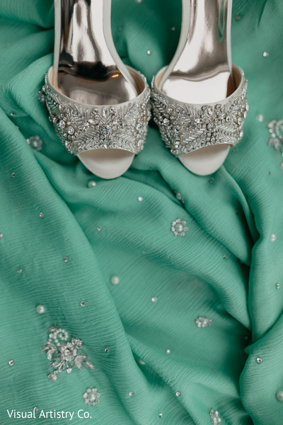 Shoes and fabric of the Maharani
