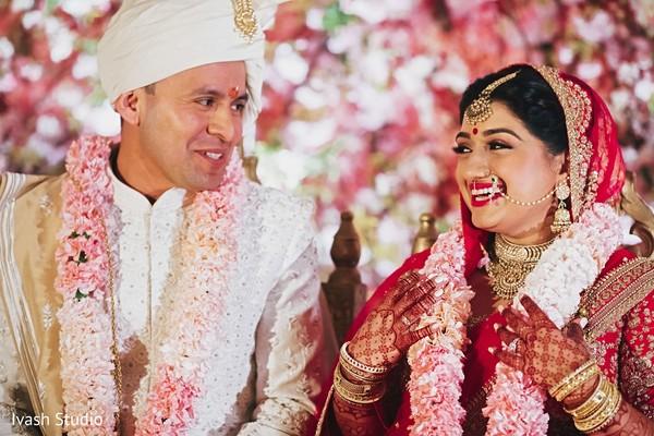 Charming Indian newlyweds.