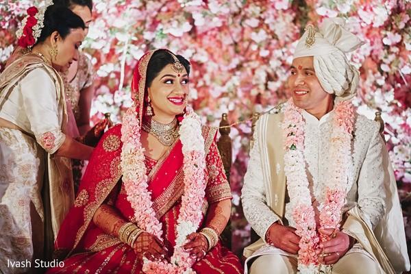 Sweet Indian bride and groom.