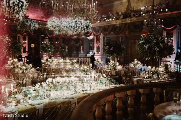 Upscale Indian wedding reception.