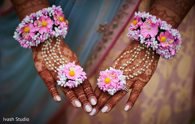 Gorgeous Indian bridal floral jewelry.