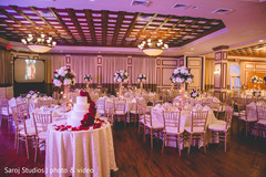 Overview of the Indian wedding reception venue