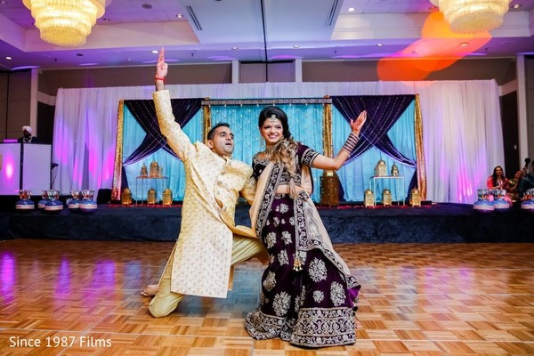 Couple performing for pictures